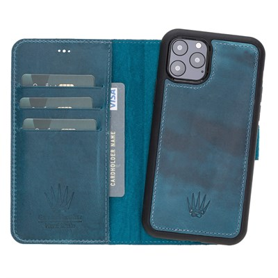 MAGIC WALLET IPHONE 11 PRO TURKUAZ WALLET + CASE