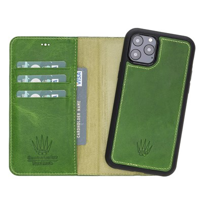 MAGIC WALLET IPHONE 11 PRO YEŞİL CUZDAN + KILIF