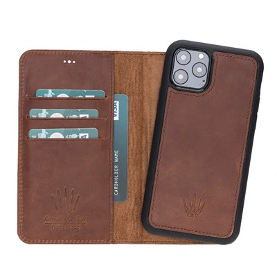 MAGIC WALLET IPHONE 11 PRO CRAZY TABA CUZDAN + KILIF