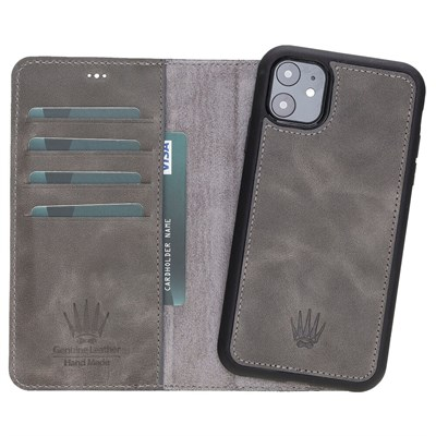MAGIC WALLET IPHONE 11 GREY WALLET + CASE