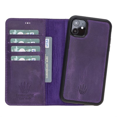 MAGIC WALLET IPHONE 11 MOR CUZDAN + KILIF