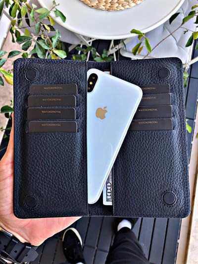 MAGNETIC BLACK PHONE WALLET
