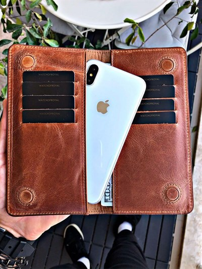 MAGNETIC CRAZY TABA PHONE WALLET