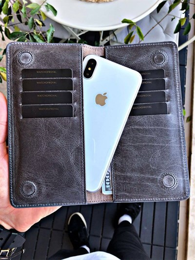 MAGNETIC GREY PHONE WALLET