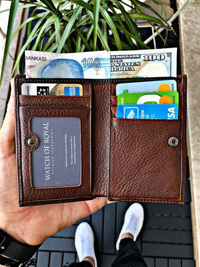 OSLO BROWN GENUINE LEATHER WALLET