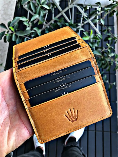 PAIR TİGUAN SARI SLIM  GENUINE LEATHER WALLET