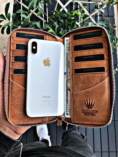 ROYAL TIGUAN CRAZY TABA PHONE WALLET