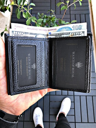SAINT BLACK GENUINE LEATHER WALLET
