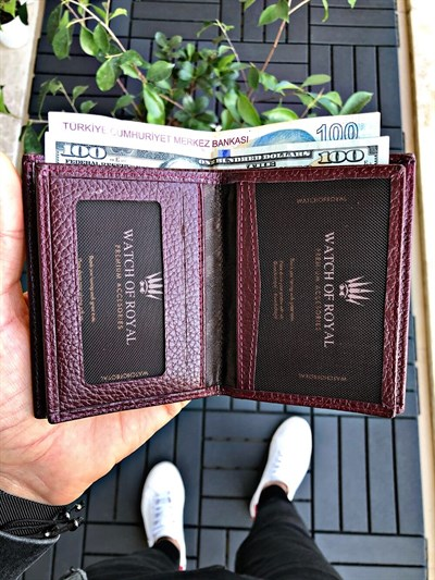 SAINT BURGUNDY GENUINE LEATHER WALLET