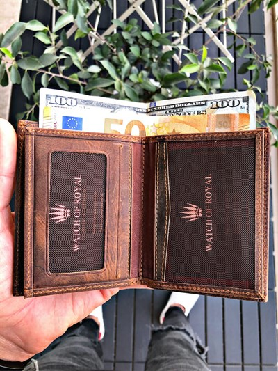 SAINT CRAZY TABA GENUINE LEATHER WALLET