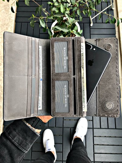 VALENCIA GREY PHONE WALLET