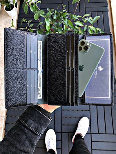 VALENCIA BLACK PHONE WALLET