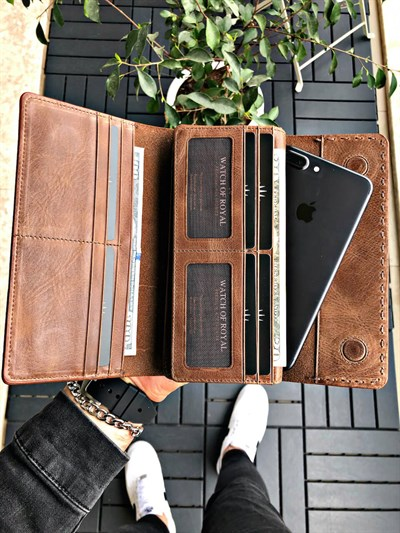 VALENCIA BROWN PHONE WALLET
