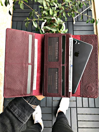 VALENCIA BURGUNDY PHONE WALLET