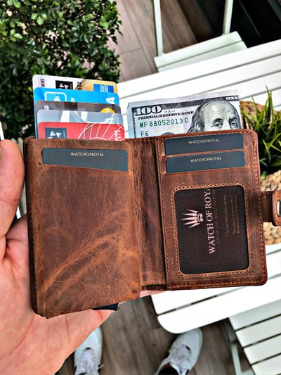 VENTURE CRAZY TABA GENUINE LEATHER WALLET WITH MECHANISM