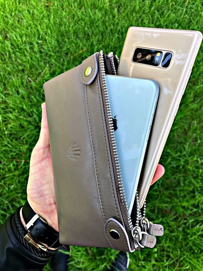 DUAL POCKET GREY TELEFON CÜZDANI