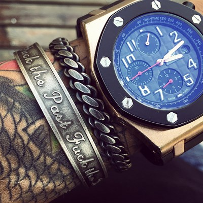 FCK THE PAST RETRO 2Lİ SET TITANIUM BRACELET