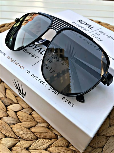 ROYAL EYEWEAR P-004 COL-1 BLACK SUNGLASSES