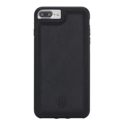 IPHONE 6PLUS/ 7PLUS/ 8PLUS BLACK LEATHER KILIF