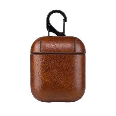 AIRPODS LEATHER BROWN CASE