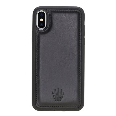IPHONE X/XS BLACK LEATHER CASE