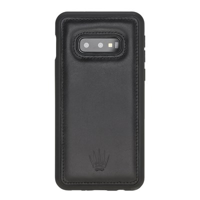 SAMSUNG S10E BLACK LEATHER KILIF
