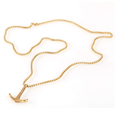 ANCHOR GOLD TITANIUM NECKLACE