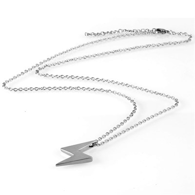 LIGHTNING SILVER TITANIUM NECKLACE