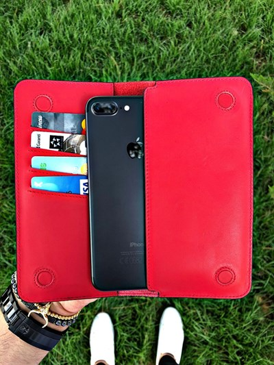 MAGNETIC RED TELEFON CÜZDANI