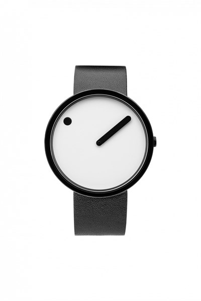 POINT LINE WHITE LEATHER Watches