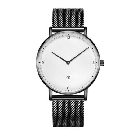AURORA SLIM BLACK WHITE STELL MESH Watches
