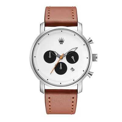 CHRONO SIENNA WHITE LEATHER Watches