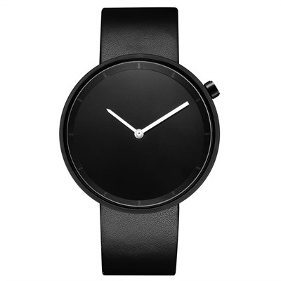 ORE BLACK MINIMALIST UNISEX LEATHER KOL SAATİ