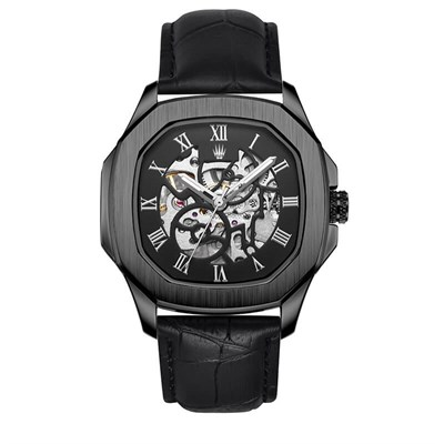 PEERLESS LEATHER NUMBER AUTOMATIC BLACK KOL SAATİ