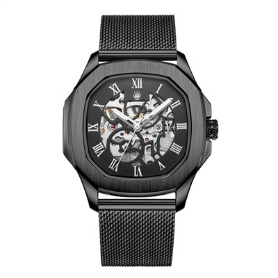 PEERLESS NUMBER AUTOMATIC BLACK KOL SAATİ