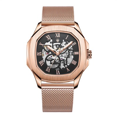 PEERLESS NUMBER AUTOMATIC ROSE GOLD WATCHES