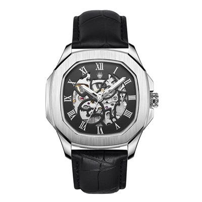 PEERLESS LEATHER NUMBER AUTOMATIC SILVER KOL SAATİ