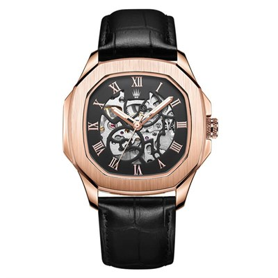 PEERLESS LEATHER NUMBER AUTOMATIC ROSE GOLD KOL SAATİWATCHESROYAL WATCHESPEERLSSNRGLEATHRPEERLESS LEATHER NUMBER AUTOMATIC ROSE GOLD KOL SAATİ
