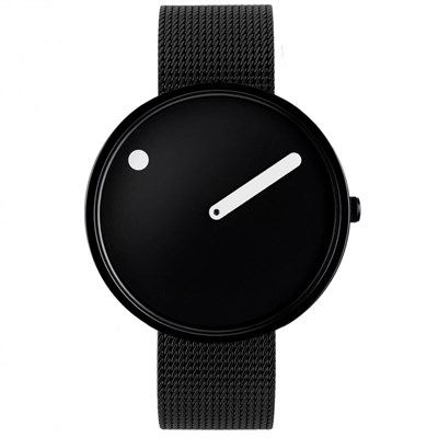 POINT LINE BLACK STEEL MESH Watches