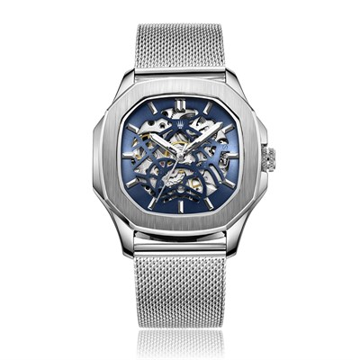 PEERLESS SILVER BLUE STELL MESH Watches