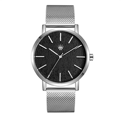 PRIVATE SILVER BLACK STELL MESH Watches