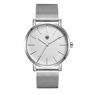 PRIVATE SILVER WHITE STELL MESH Watches