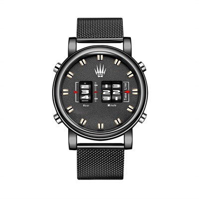 ROLLER DESIGN BLACK STELL MESH WATCHES