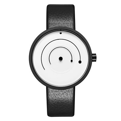 SPRING LINE WHITE BLACK LEATHER Watches