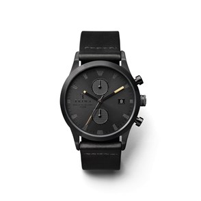 TRIWA Rasmus Chrono Black-Leather Unisex Kol Saati